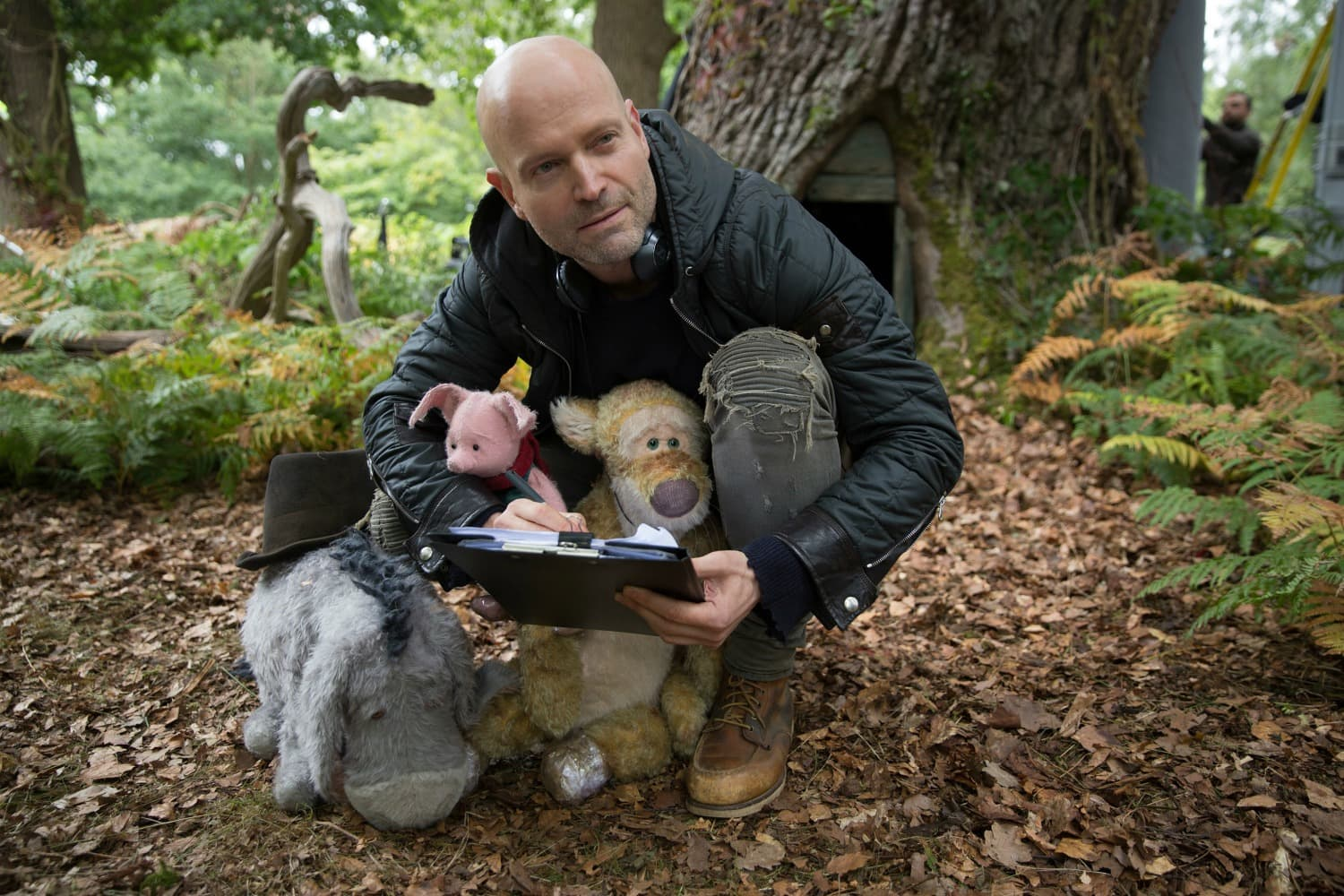 Director Marc Forster and pooh friends
