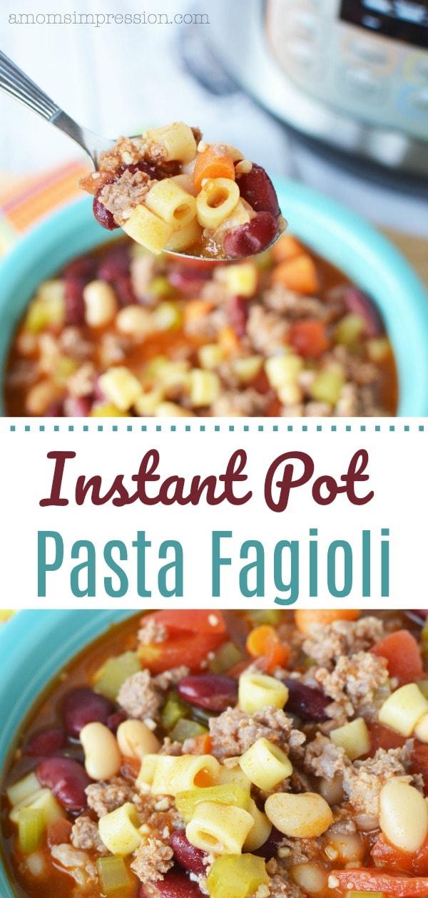 Instant Pot Pasta Fagioli pin