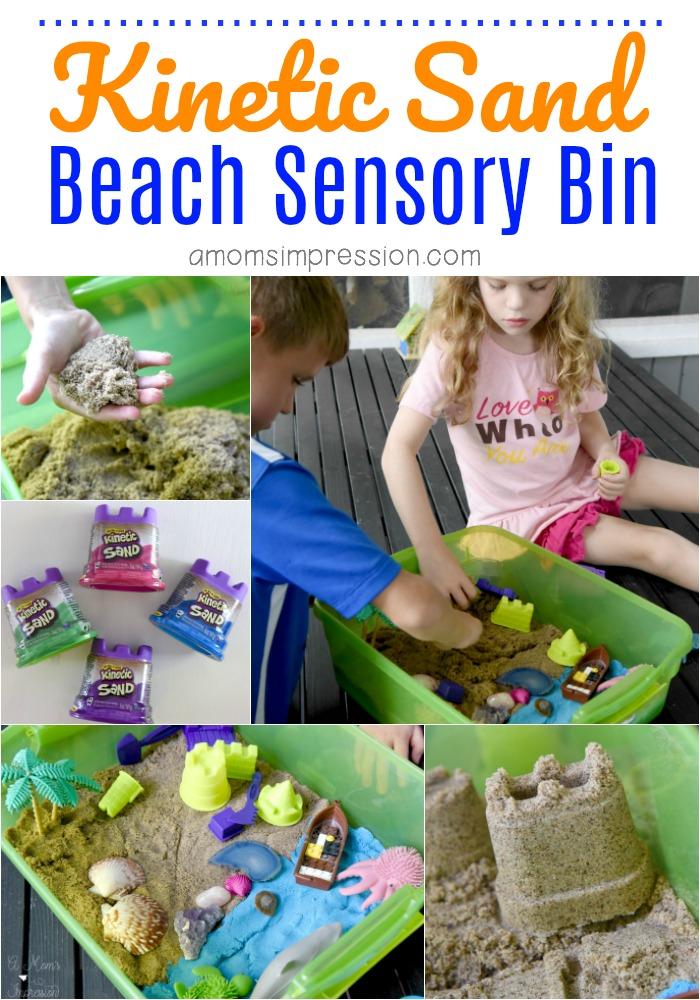 Kinetic Sand Beach Sensory Bin