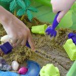 Themed Beach Sensory Bin with Kinetic Sand!