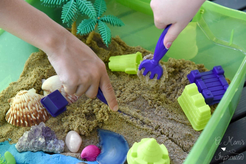having fun with sand