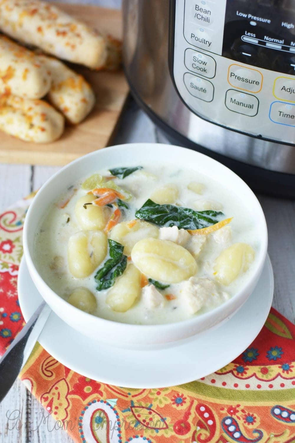 Instant Pot Olive Garden Chicken Gnocchi Soup - A Mom's
