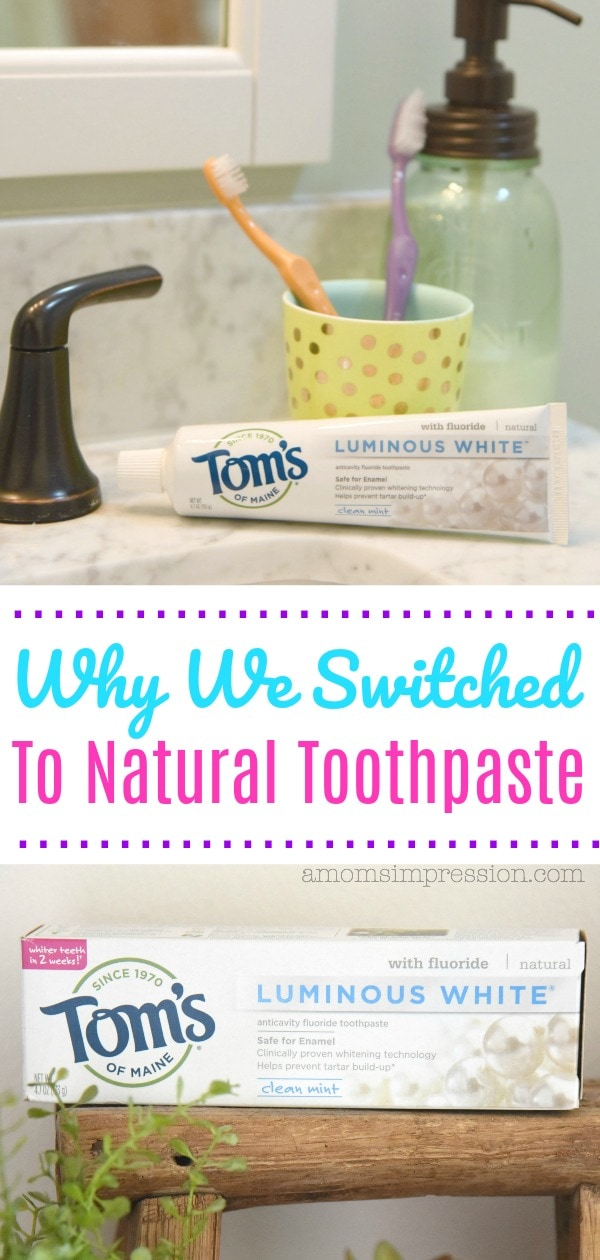 Switching to natural toothpaste