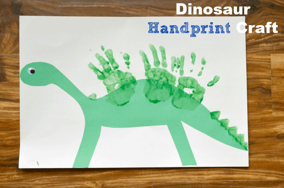 Dinosaur handprint craft