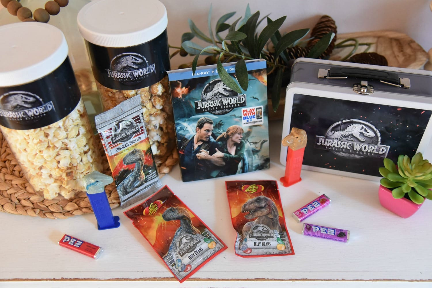 Jurassic world viewing party snacks