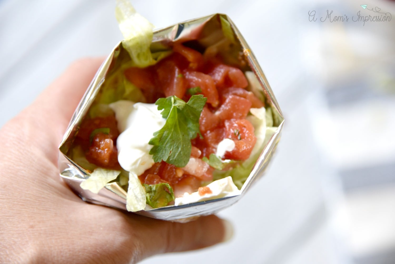 perfect tailgate food - walking taco