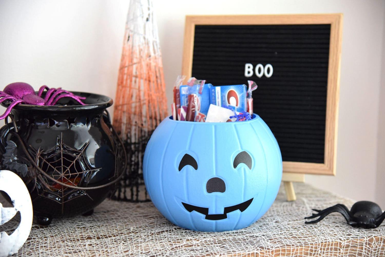 Blue Halloween Pumpkin