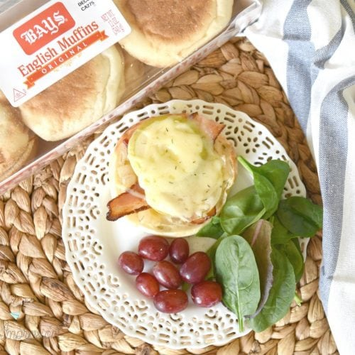 Open Faced Gruyere Cheese Sandwich with Apple and Bacon