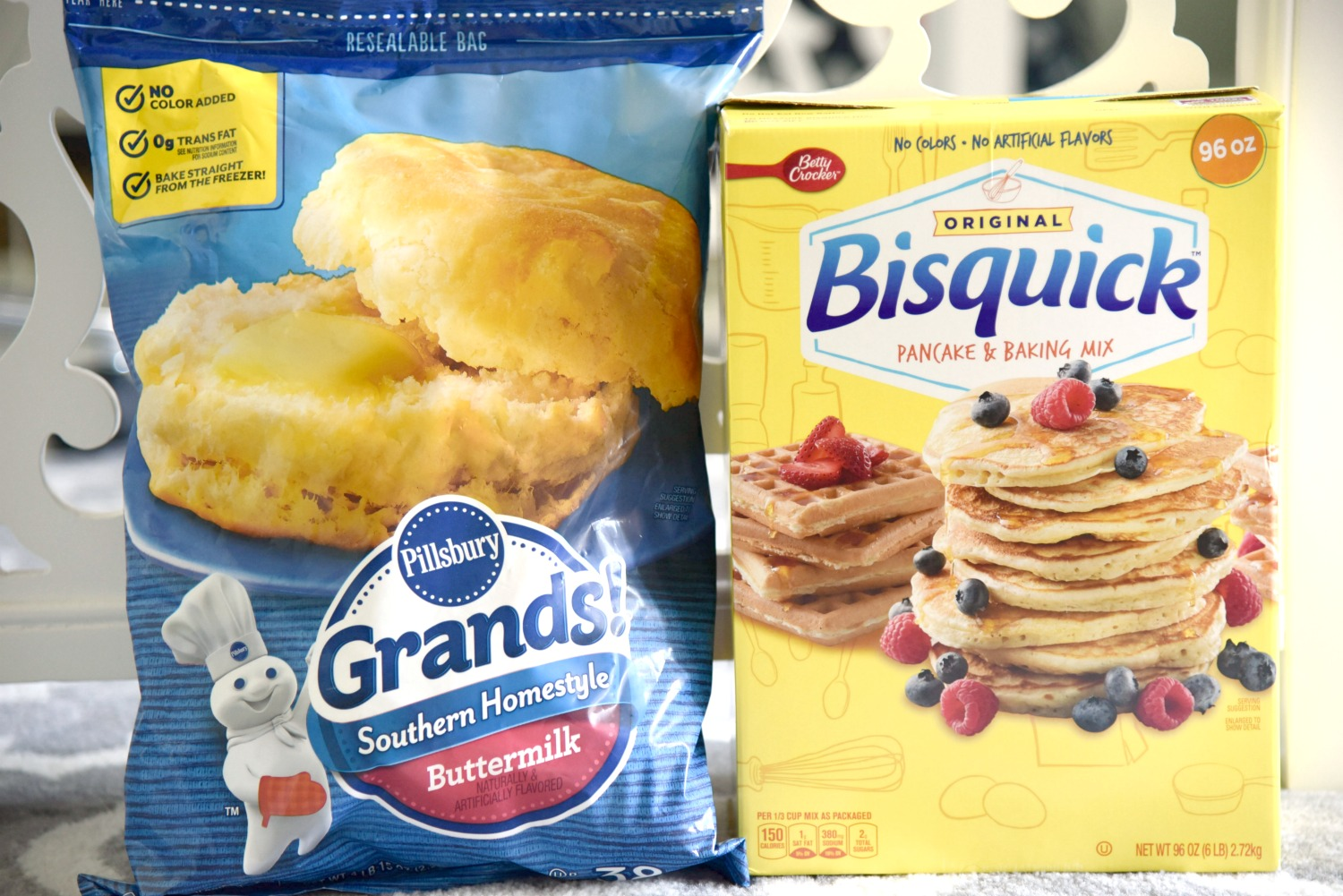 Pillsbury grands and Bisquick