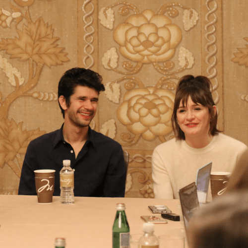 Ben Whishaw and Emily Mortimer