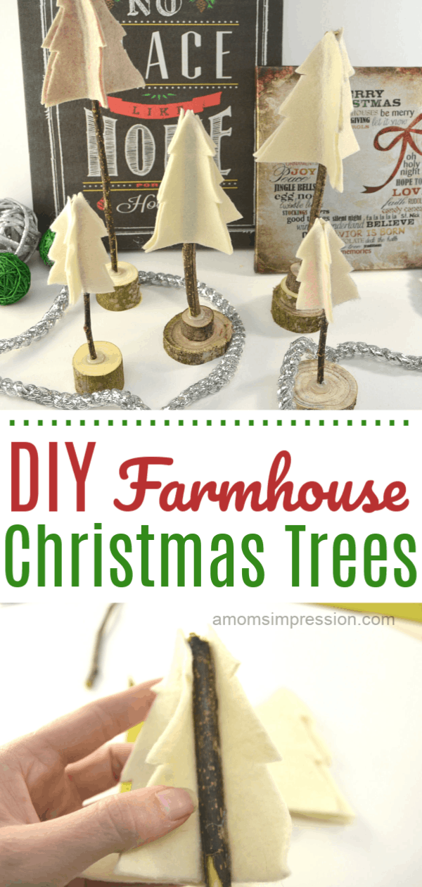 DIY Farmhouse Tree Decor