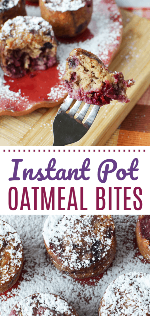 Instant pot oatmeal bites
