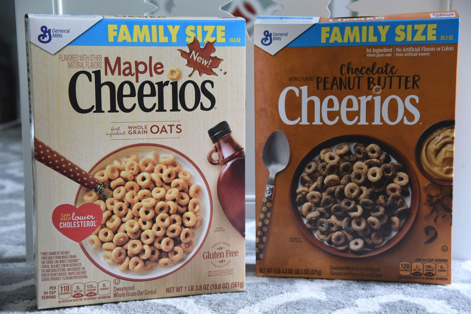 New flavors of Cheerios