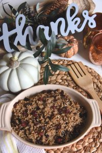 Sweet Tea Rice With Cranberries and Pecans