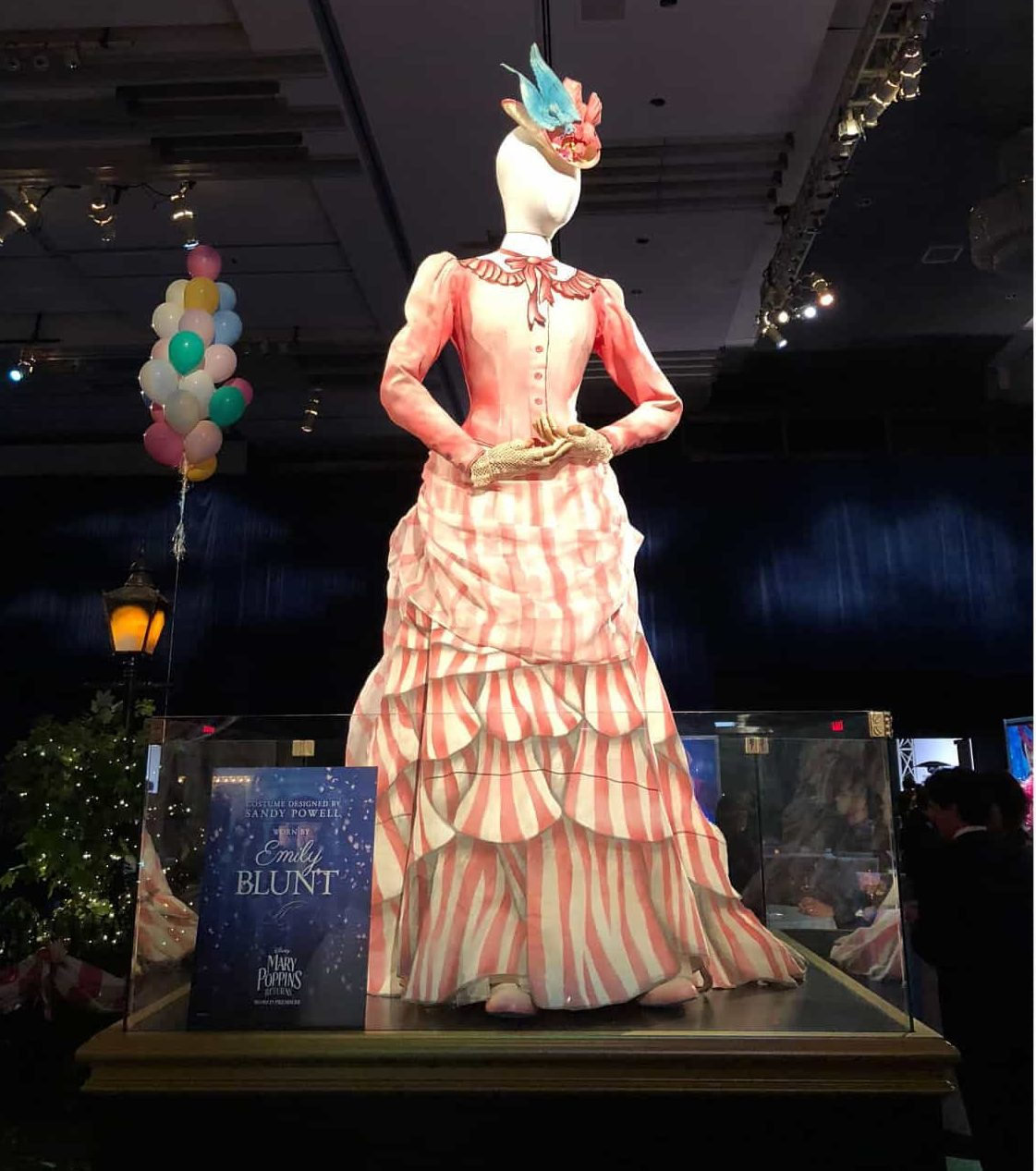 Mary Poppins Returns painted dress
