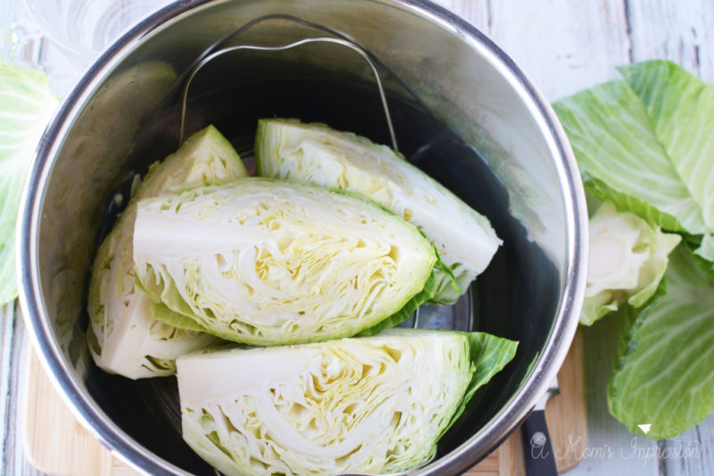 This Cabbage in Instant Pot is a great healthy side dish