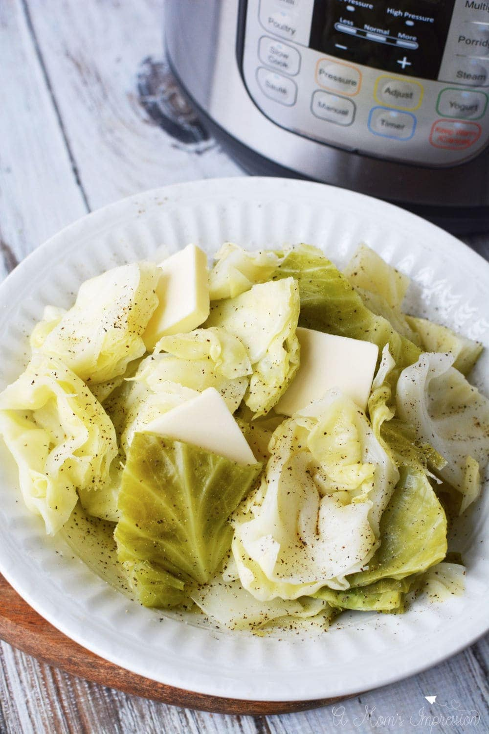 This Instant Pot Cabbage recipe is the perfect side dish for keto diet and whole 30