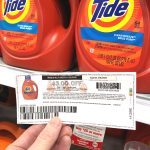 Shopping for tide with coupon