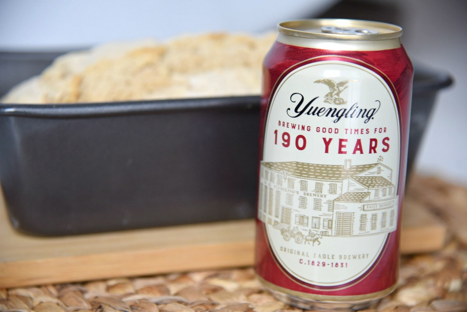Beer Bread Recipe tastes great with Yuengling Lager