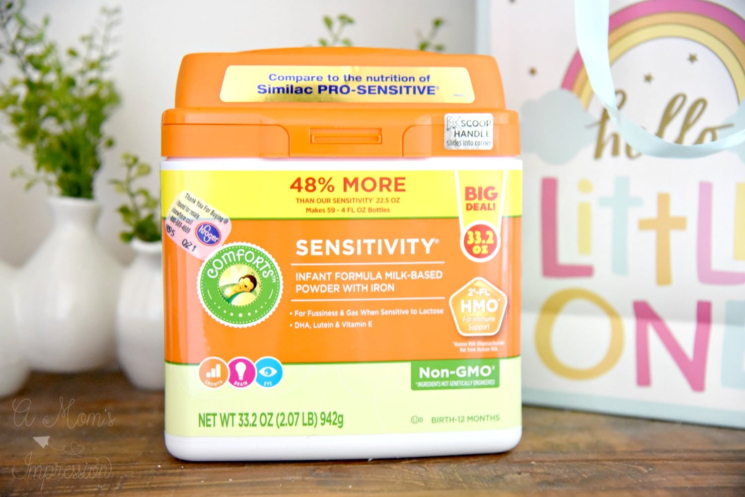 Kroger Sensitivity baby formula