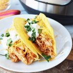 Pressure cooker chicken tacos