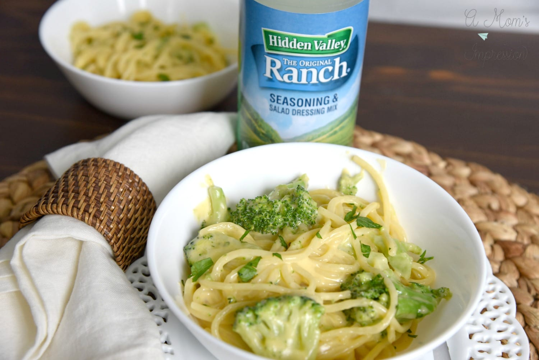 Cheesy Spaghetti with brocolli