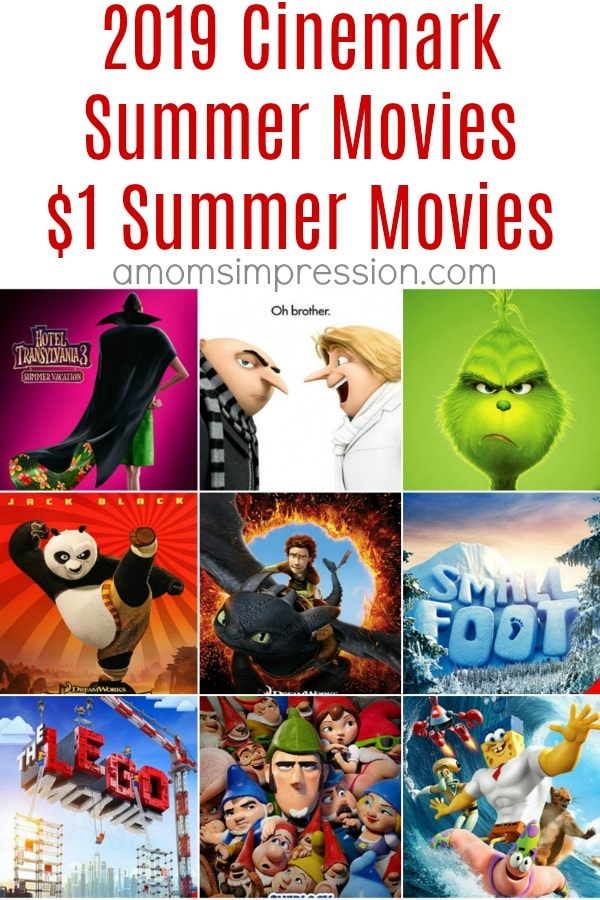 Cinemark summer movies