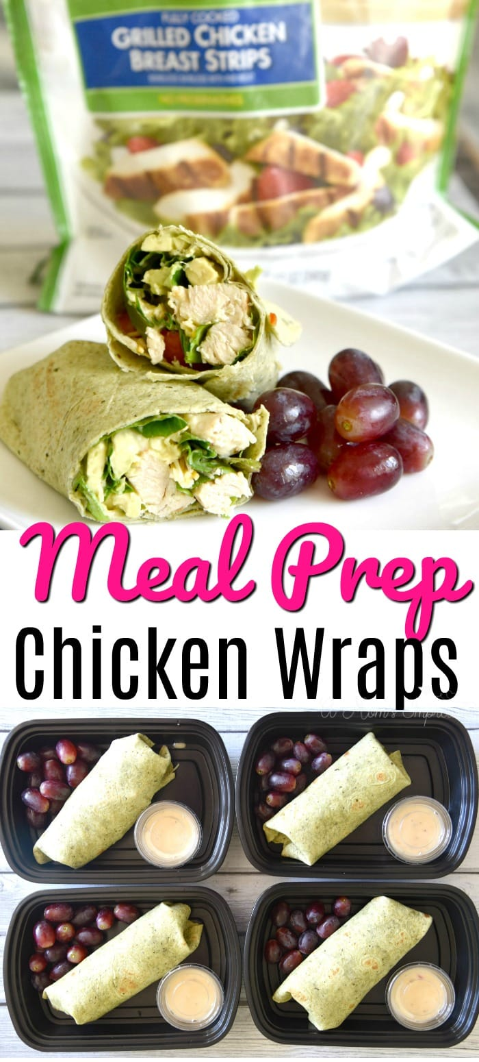 MEal Prep Chicken wraps