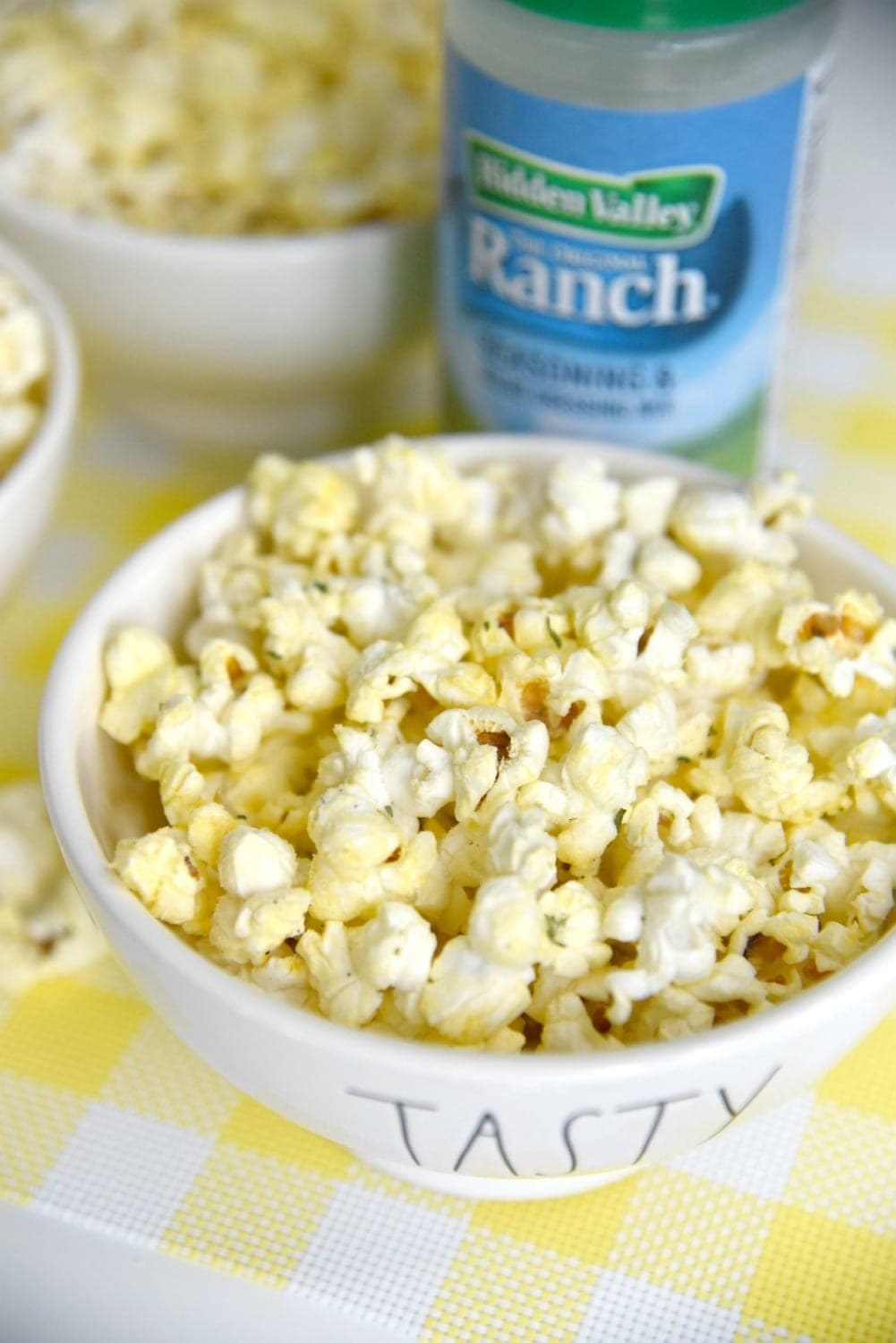 Ranch flavored popcorn