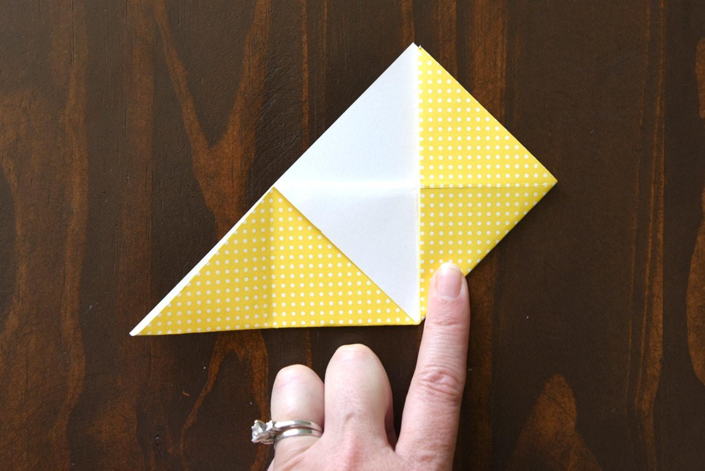 step 5 DIY corner bookmark
