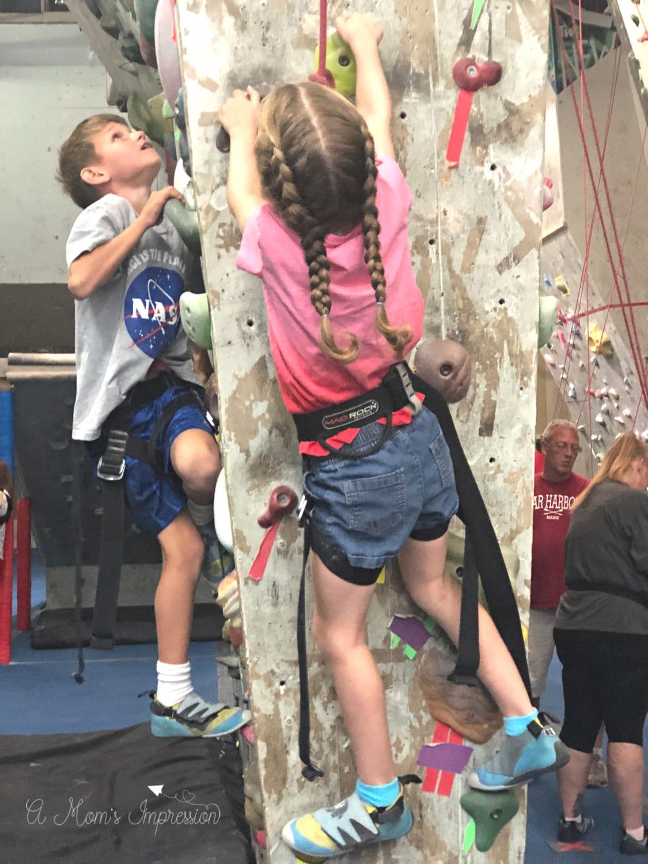 indoor rocking climbing Kids at Climb Time