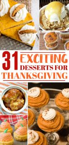 Thanksgiving desserts Pin