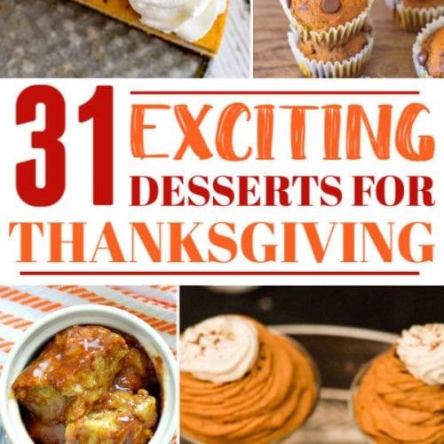 Thanksgiving desserts Pin