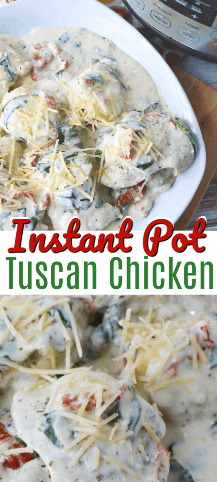 Instant Pot Tuscan Chicken Pin