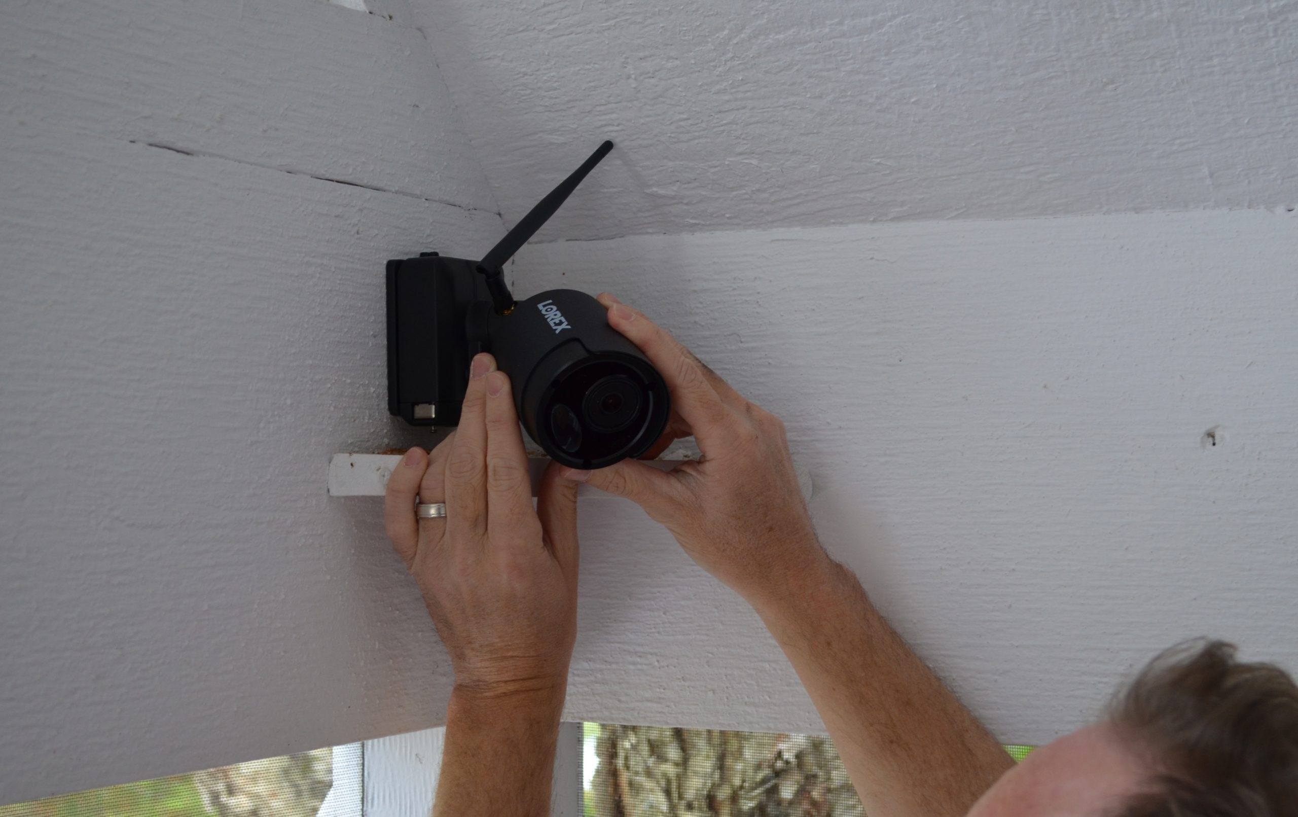 Adjusting Lorex security Camera