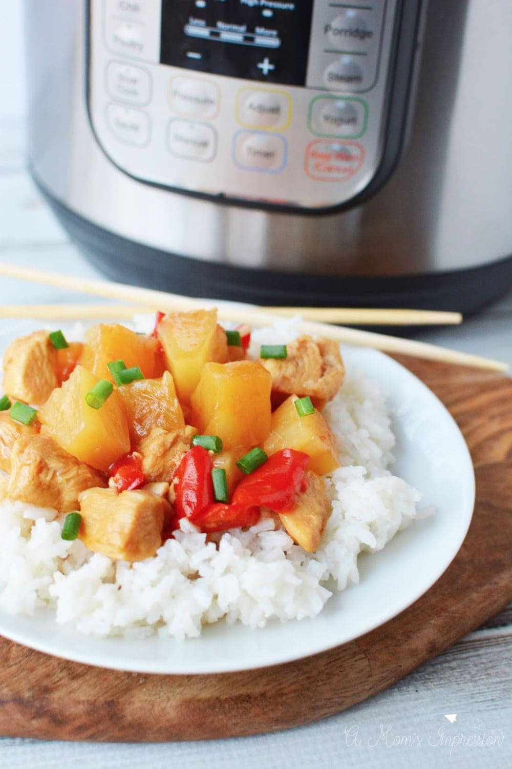 Instant Pot Sweet and Sour Chicken is so easy to make in your pressure cooker