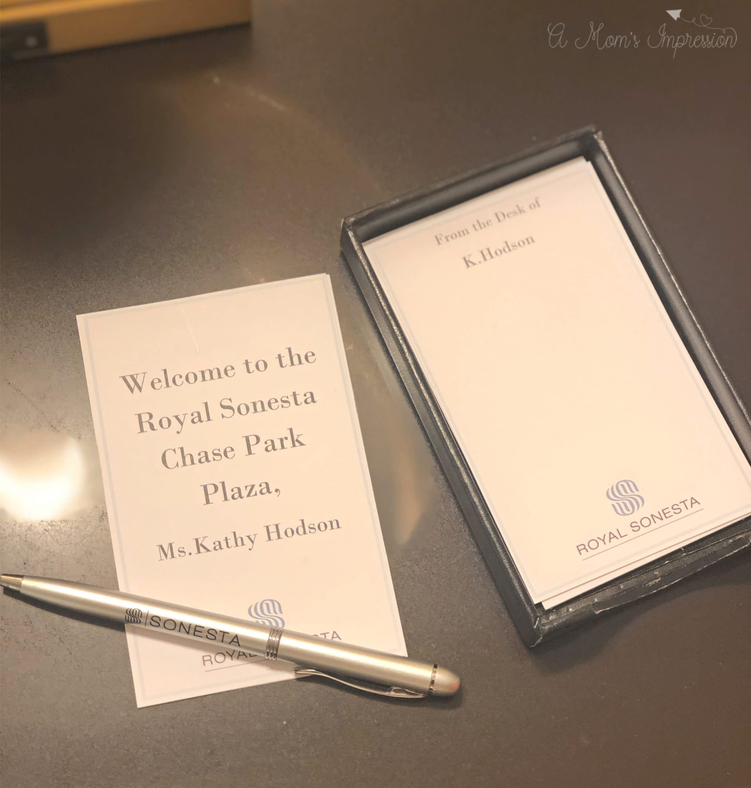 St. Louis Chase Hotel Stationary