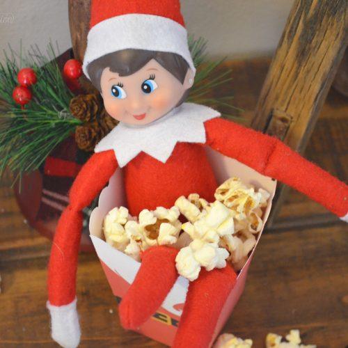elf on the shelf popcorn box idea