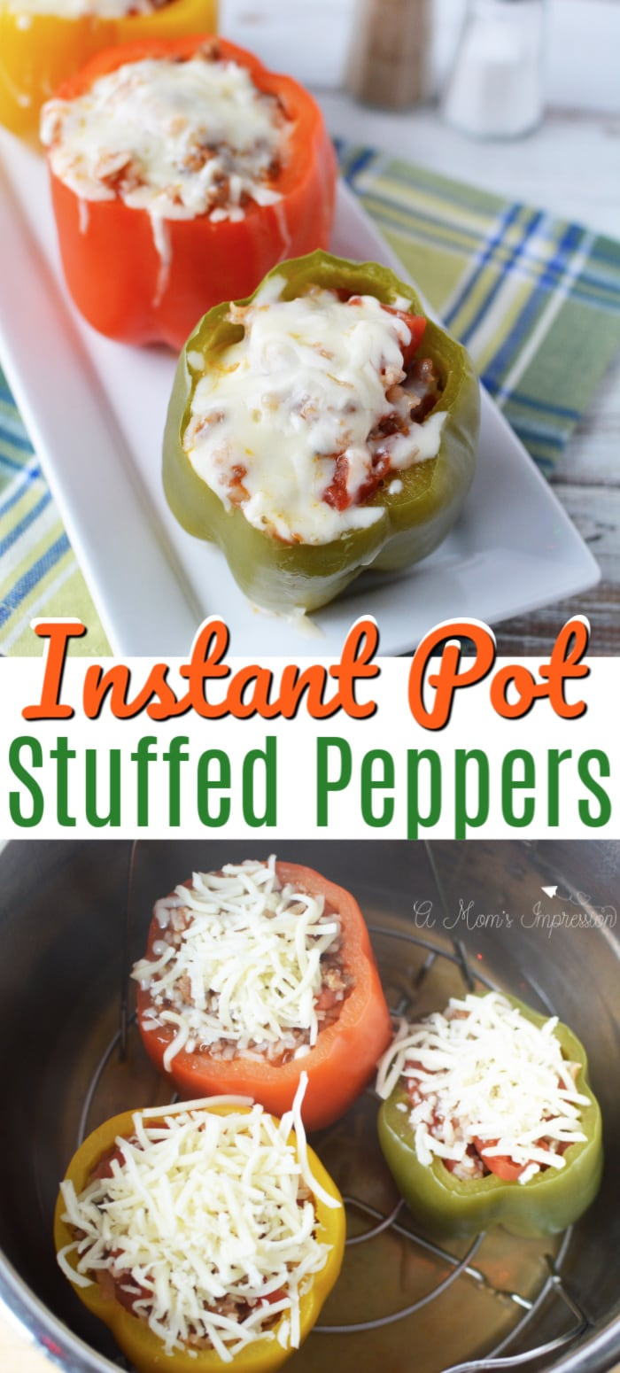 Instant Pot Stuffed Peppers Pinterest Pin