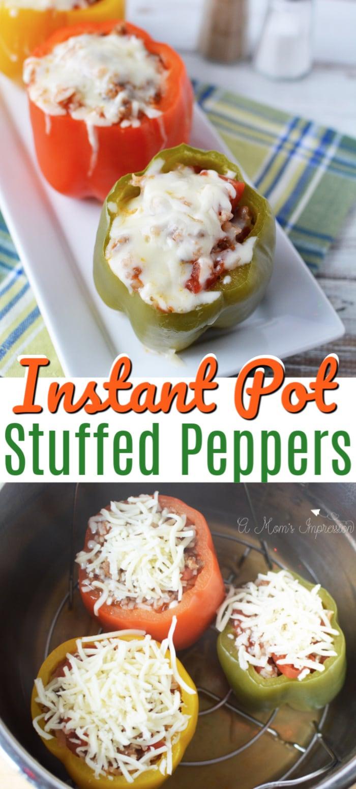 Instant Pot Stuffed Peppers Pinterest Pin