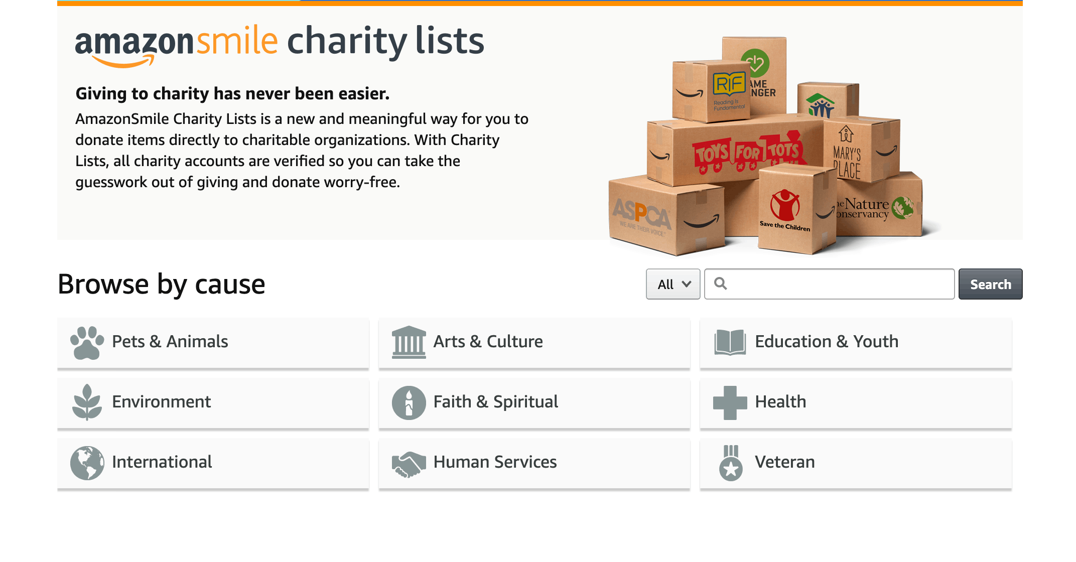 Amazon Charity Lists