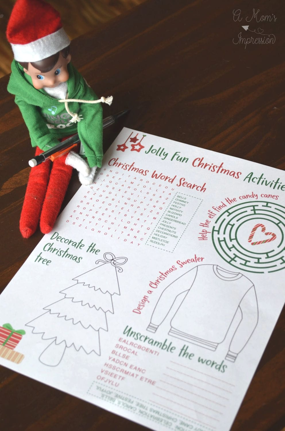 Christmas Elf activities