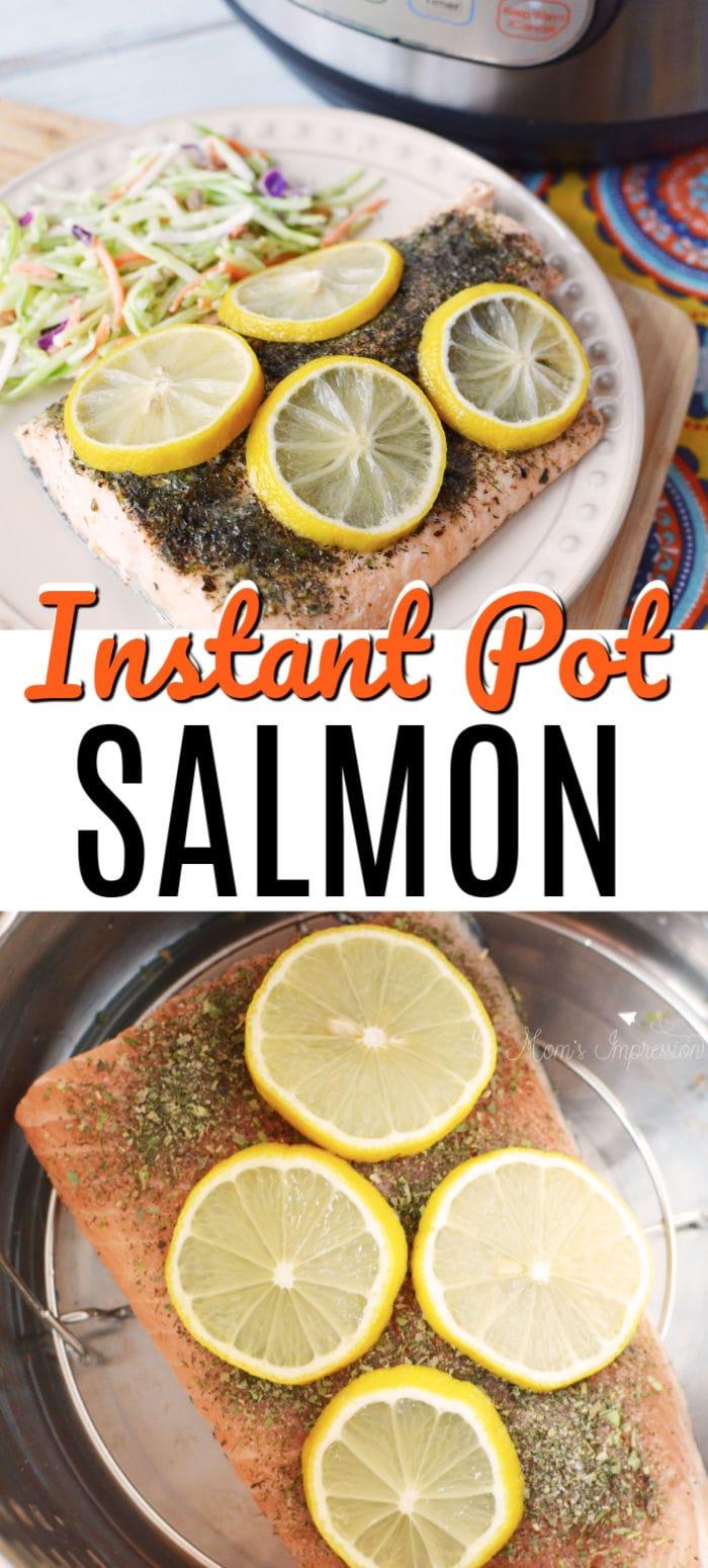 Instant Pot Salmon Pinterest Pin