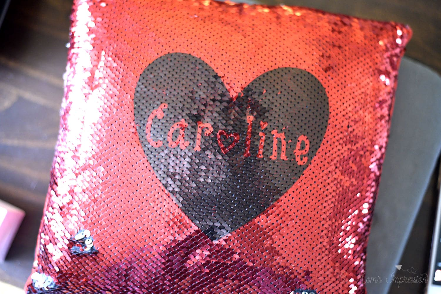 Infusible Ink Sequin Pillow
