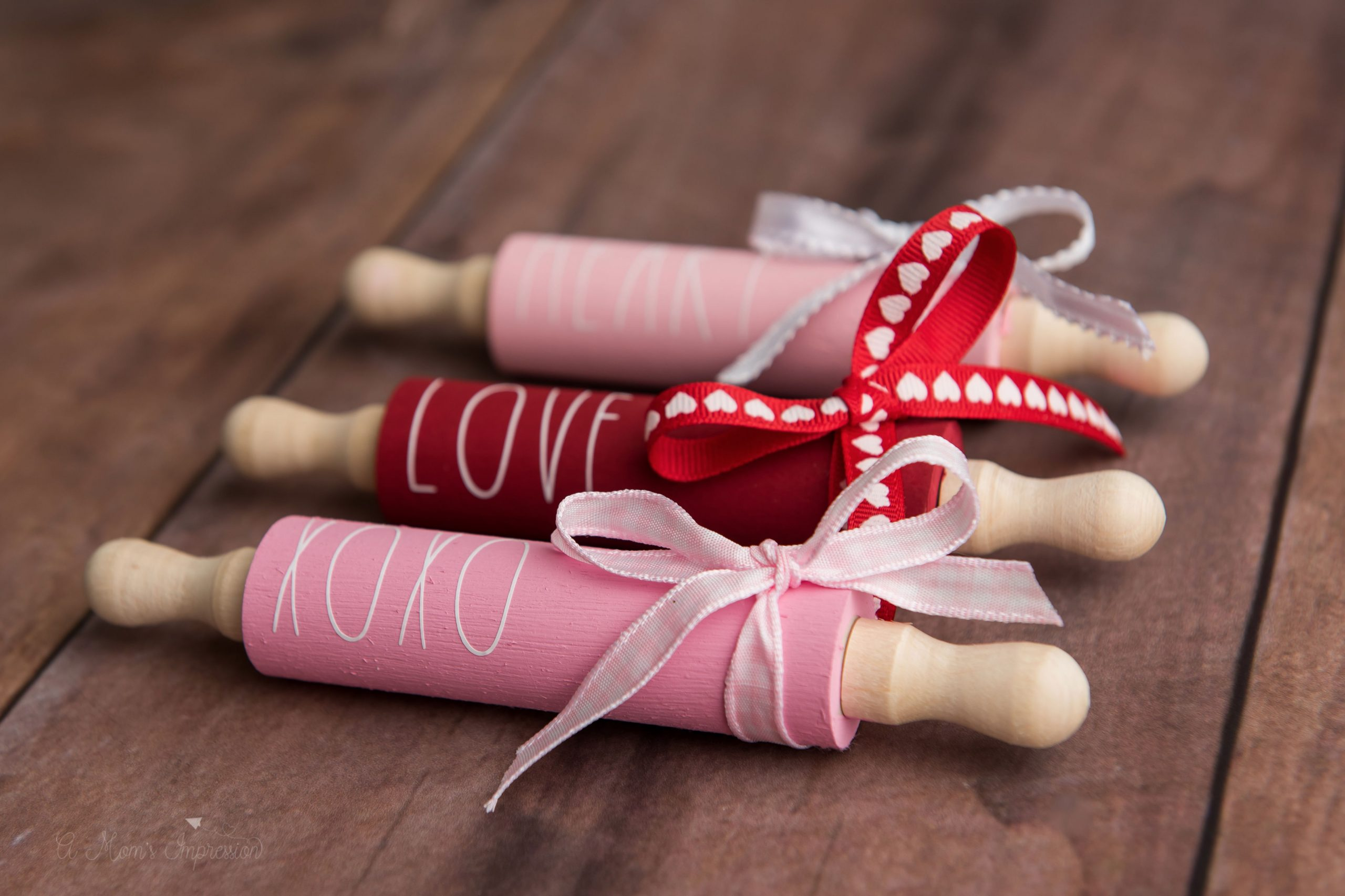 Valentines farmhouse rolling pin craft