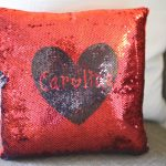 custom sequin pillow