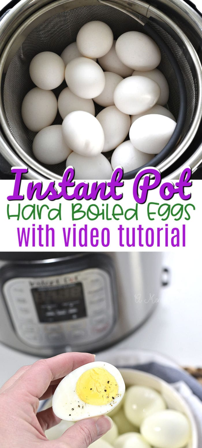 Instant Pot hard boiled eggs pinterest pin