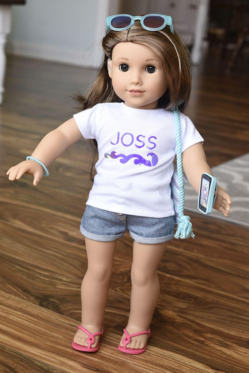 a doll named Joss with her accessories