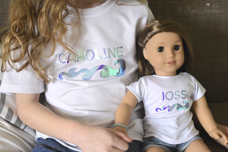 matching doll and girl shirts