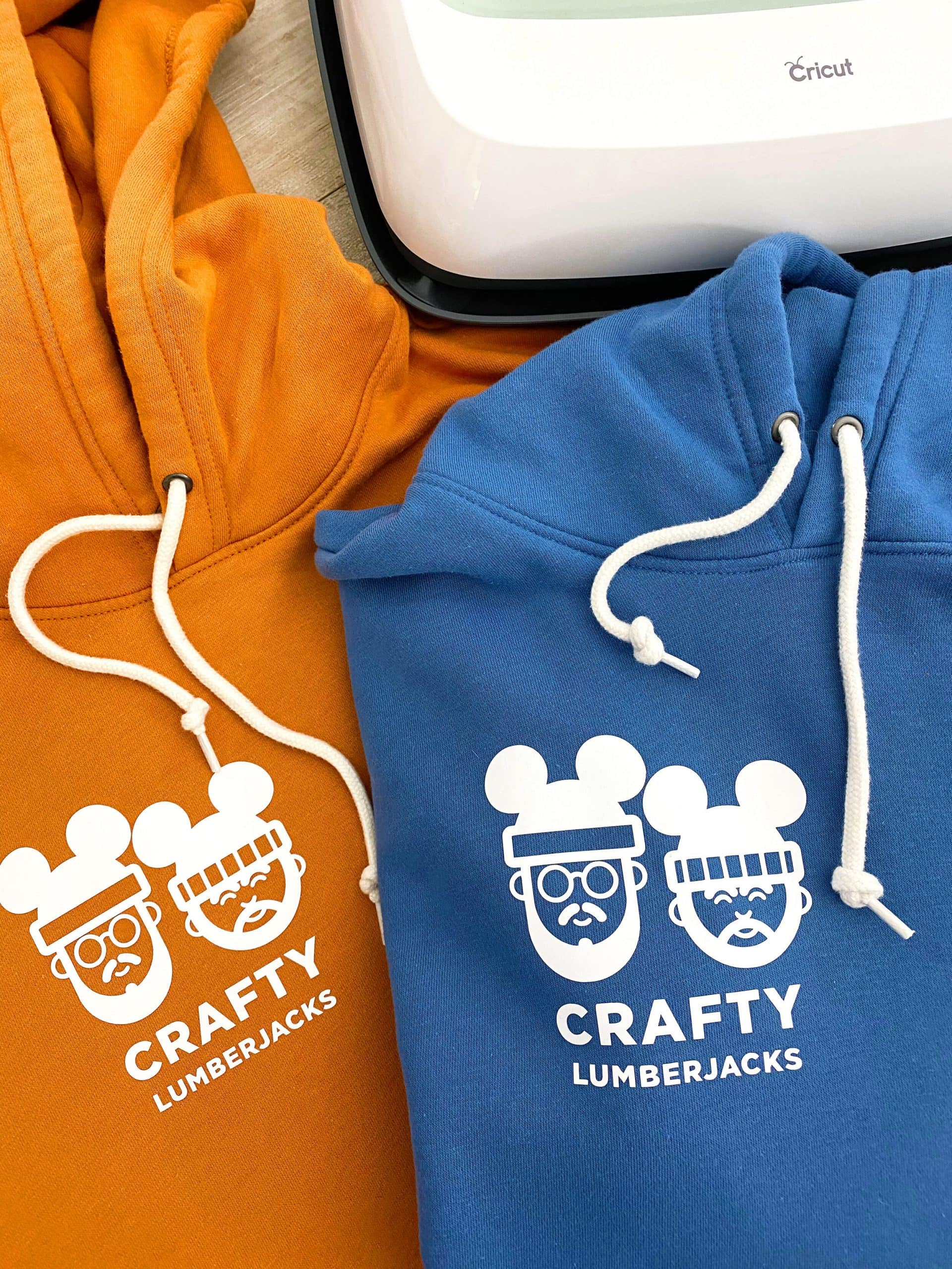 mickey ears custom shirts in organe and blue